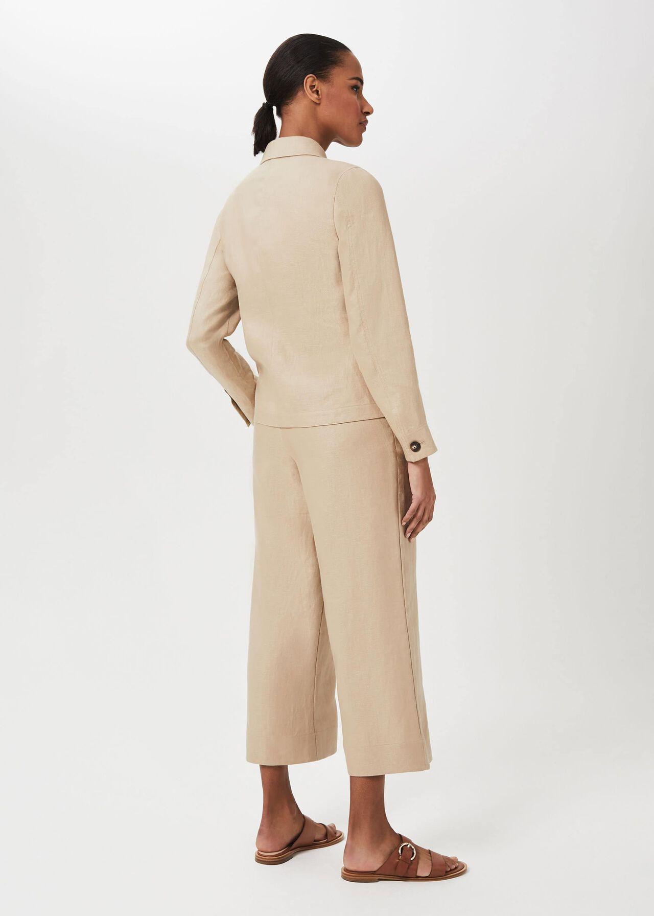 Kiera Linen Jacket, Sand, hi-res