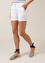 Nina Chino Short, White, hi-res