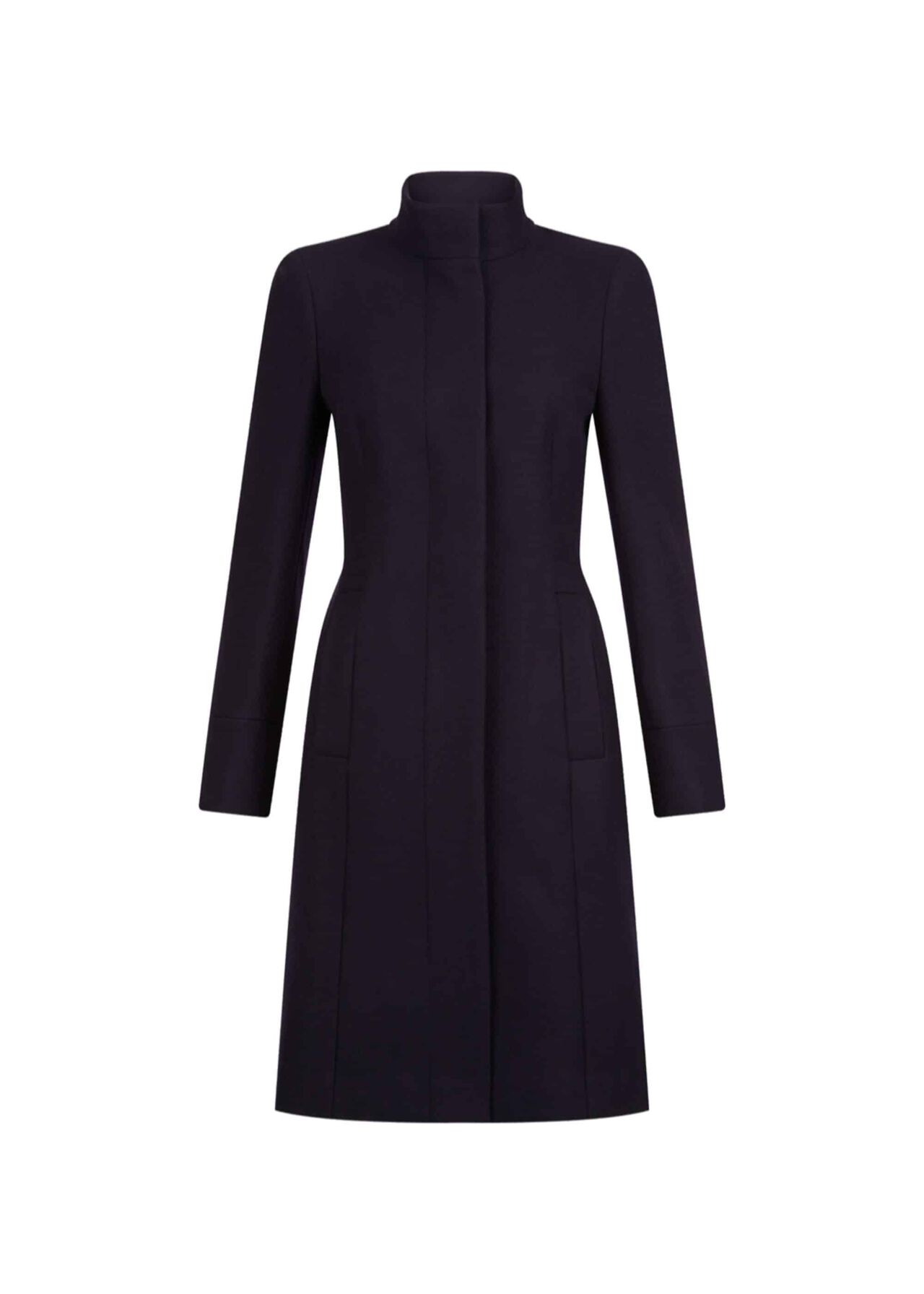 Athena Wool Blend Coat Navy
