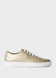 Willow Leather Trainers, Gold, hi-res