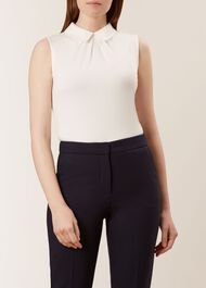 Sleeveless Sasha Top, Ivory, hi-res