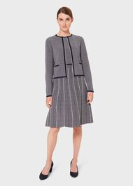 Sophie Knitted Jacket, Navy Ivory, hi-res