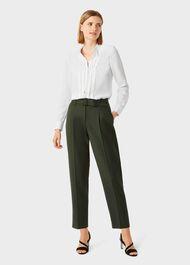 Silk Elise Shirt, Ivory, hi-res