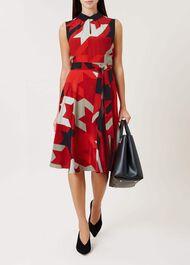 Kelsie Dress, Black Deep Red, hi-res