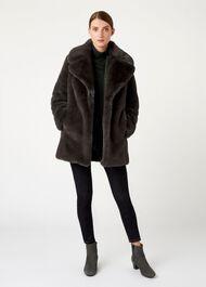 Bethany Coat, Charcoal, hi-res