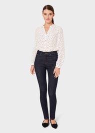Kimmy Geo Shirt, Ivory Black, hi-res
