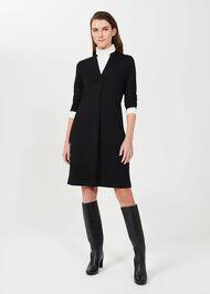 Agnes Jersey Dress, Black, hi-res