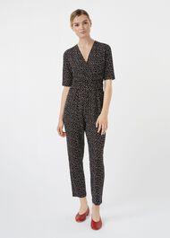 Alycia Jumpsuit, Black White, hi-res
