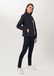 Carys Quilted Jacket, Navy, hi-res