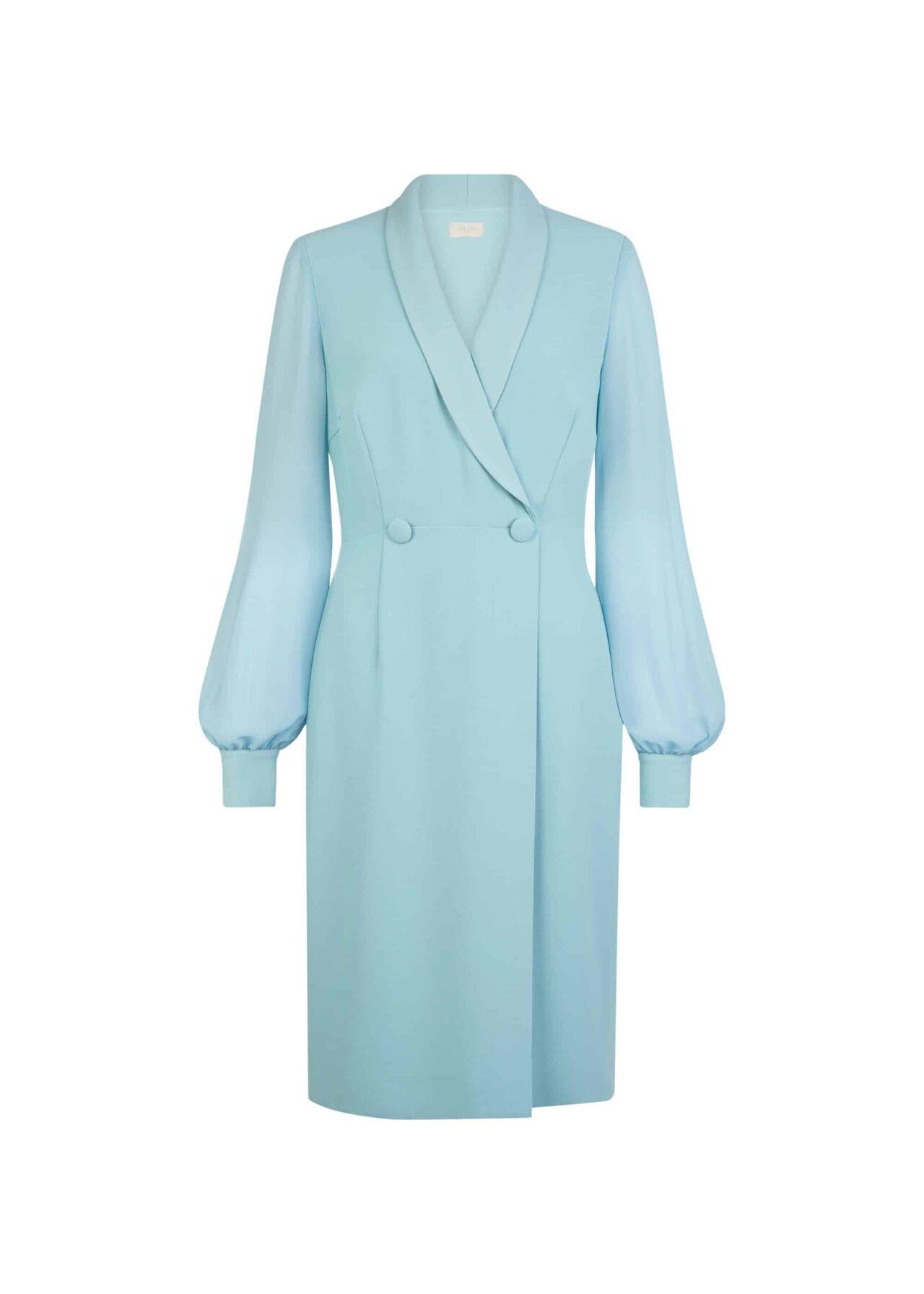 Lana Tux Dress Aqua