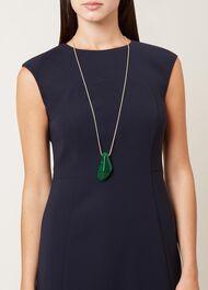 Abra Necklace, Green, hi-res