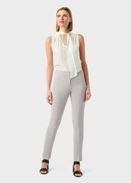 Alexia Tapered trousers With Stretch, Neutral, hi-res
