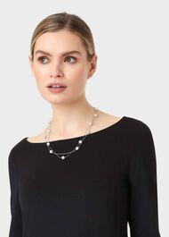 Poppy Necklace, Silver, hi-res