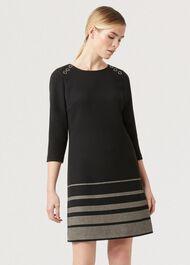 Gracie Dress, Black Camel, hi-res