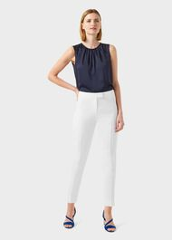 Gigi Tapered trousers, Ivory, hi-res