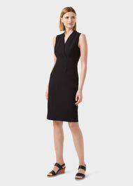Sabrina Shift Dress, Black, hi-res