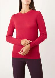 Penny Merino Wool Sweater, Pink, hi-res