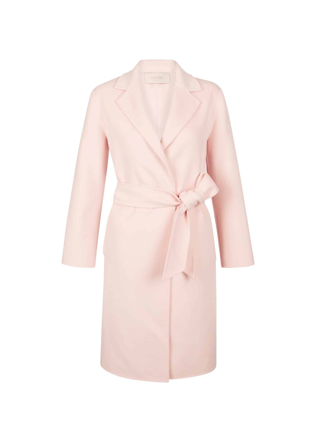 Iris Double Face Wool Blend Coat Pale Pink