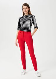 Iva Slim Trousers With Stretch, Red, hi-res