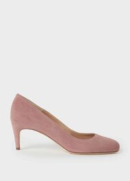Emma Suede Stiletto Court Shoes, Dusky Pink, hi-res