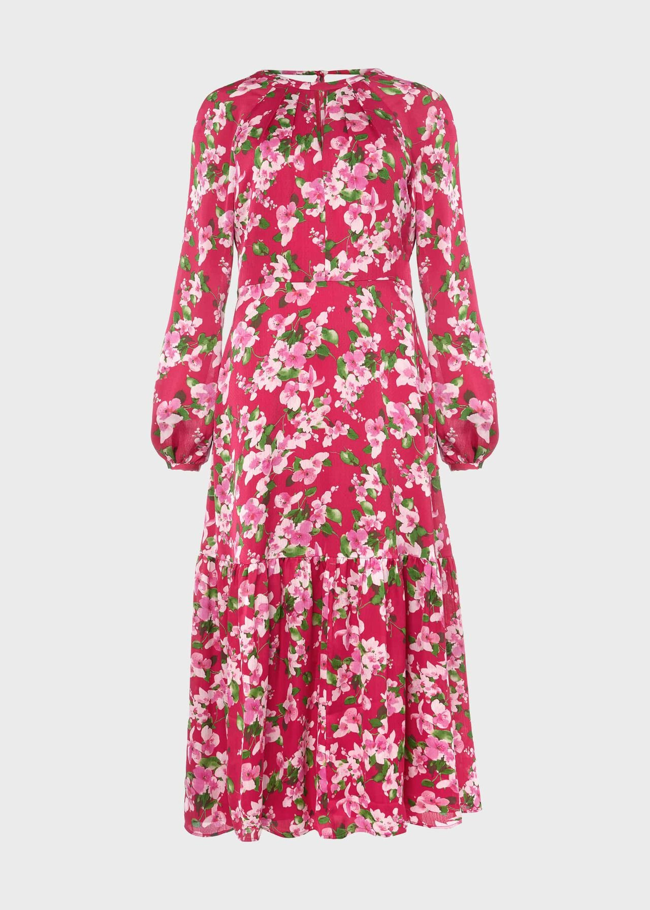Marilyn Midi Dress Fuchsia Multi