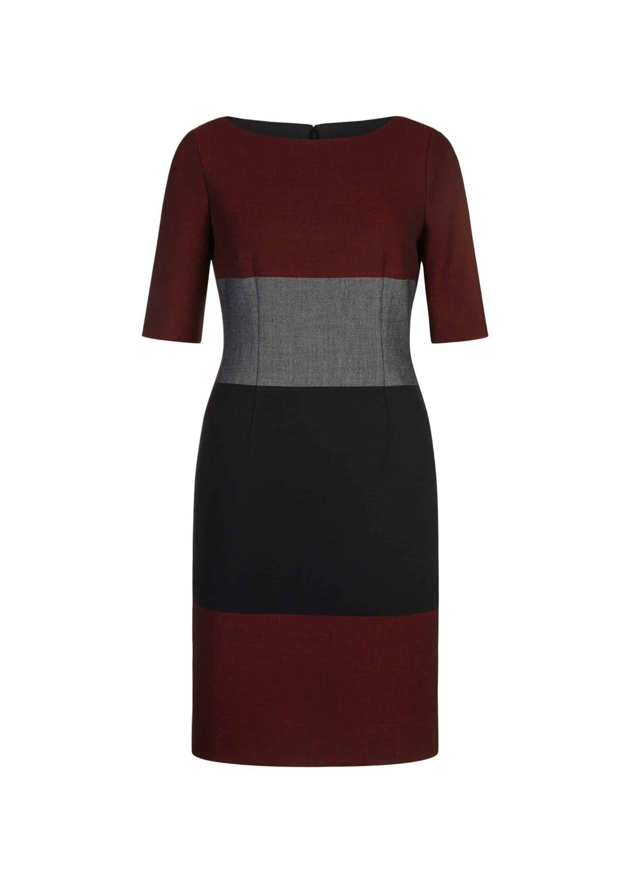 Jemima Dress Navy Red Ivory