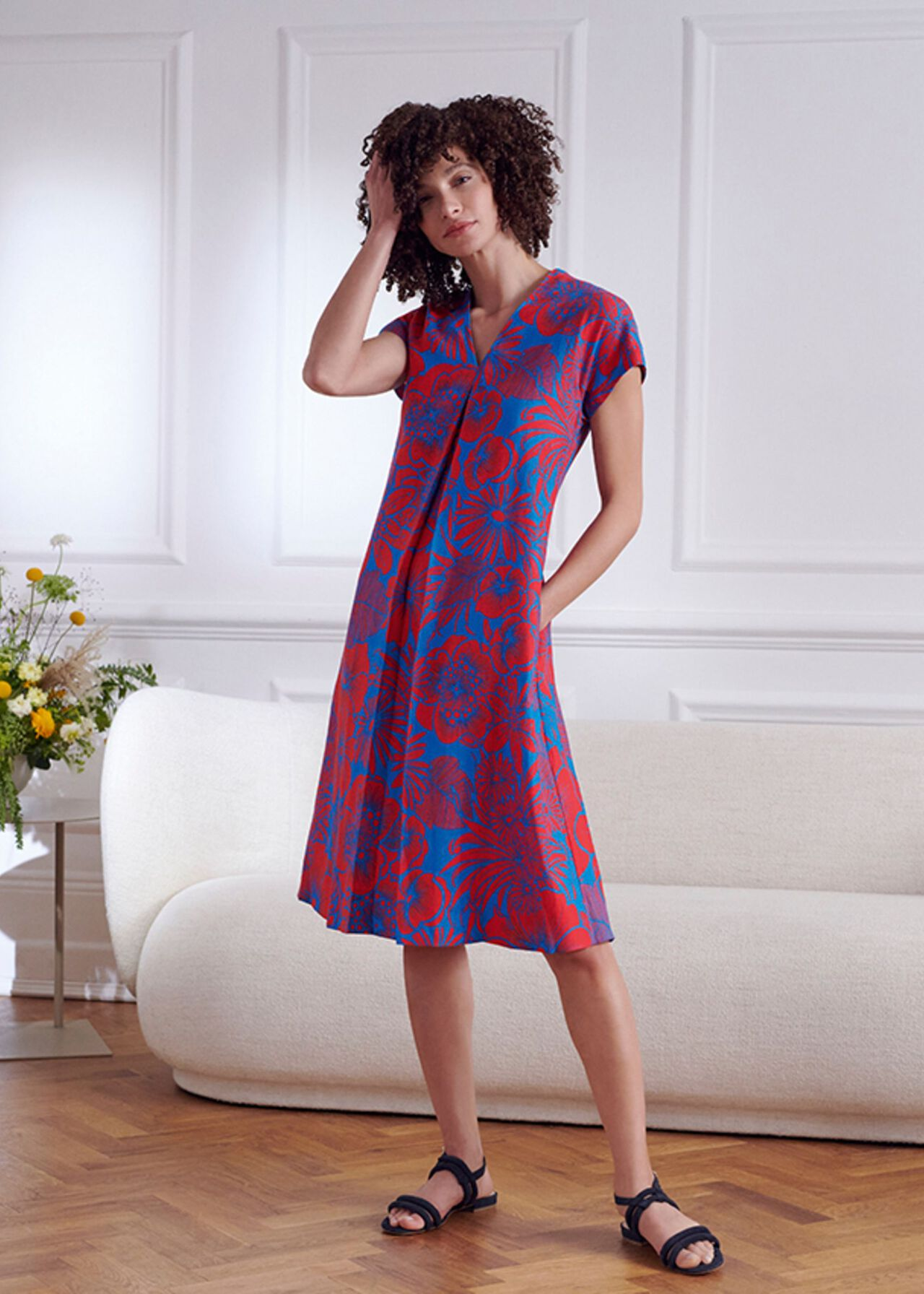 The Etty Linen Dress Outfit, , hi-res