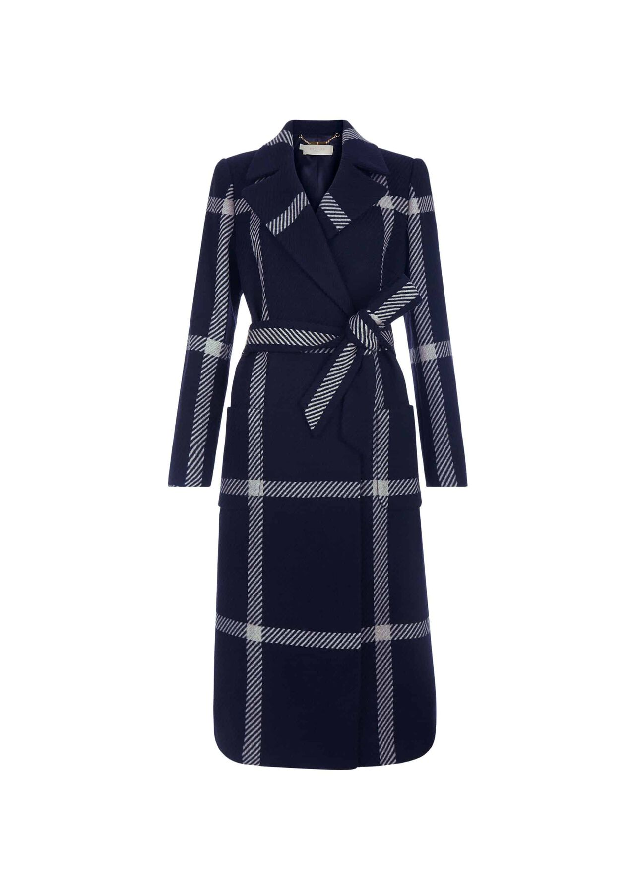Florina Wool Blend Coat Navy Blonde