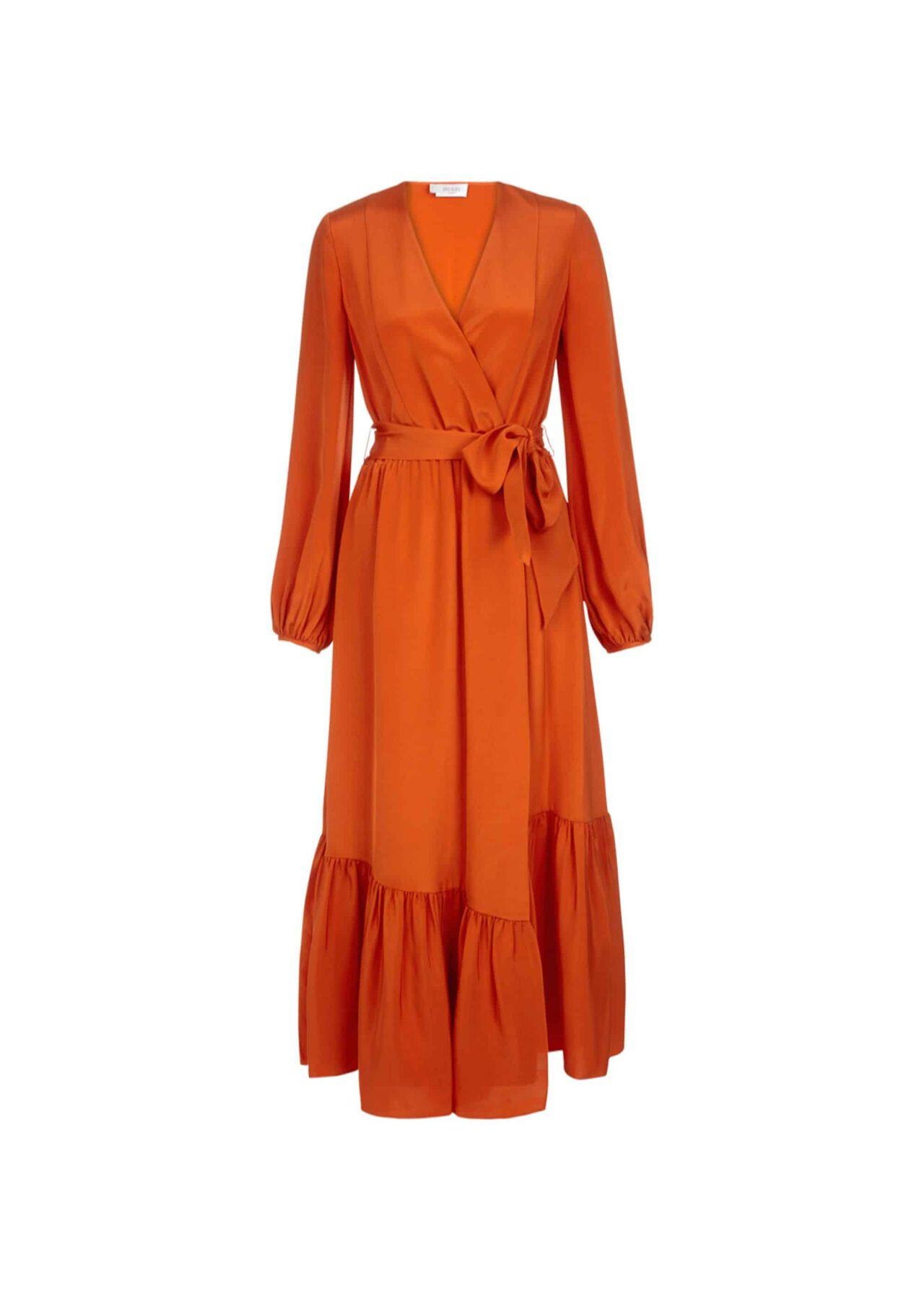 Valencia Silk Dress Orange