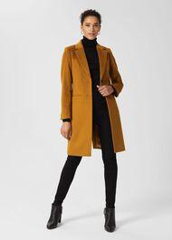 Petite Tilda Wool Coat, Deep Ochre, hi-res