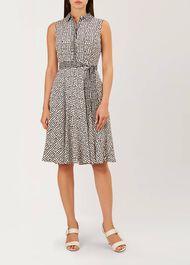 Belinda Dress, Ivory Black, hi-res