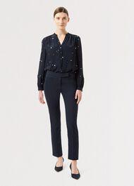 Petite Annie Slim trousers, Navy, hi-res