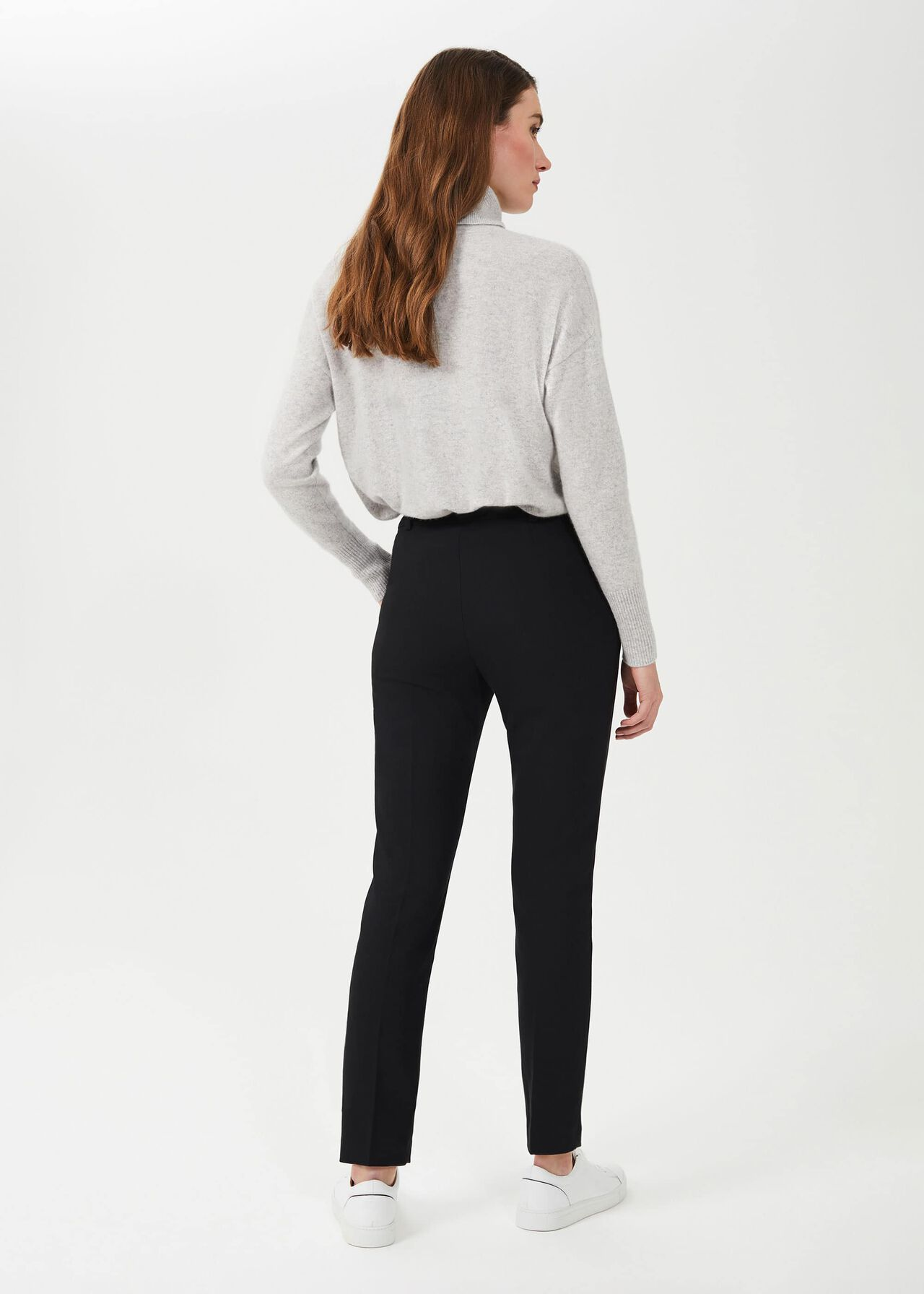 Quin Tapered Trousers With Stretch, Black, hi-res