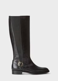 Nicole Buckle Boot, Black, hi-res