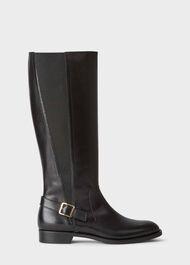 Nicole Buckle Boot, Black, hi-res