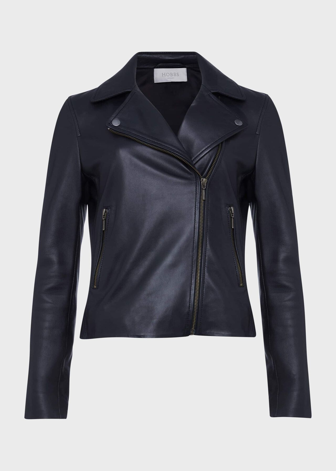 Tania Leather Jacket Navy