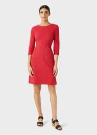 Yasmine Dress, Red, hi-res