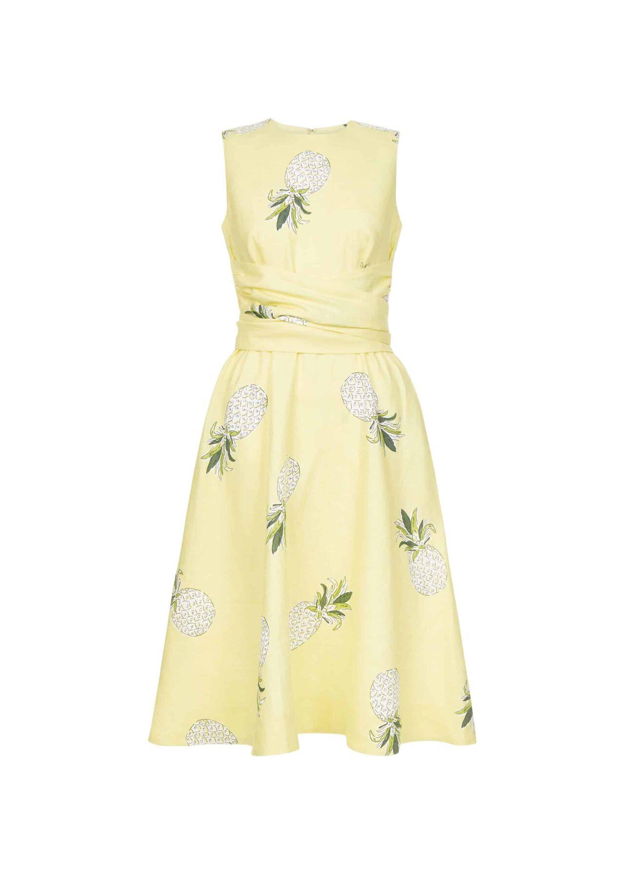 Twitchill Linen Dress Buttercup Multi