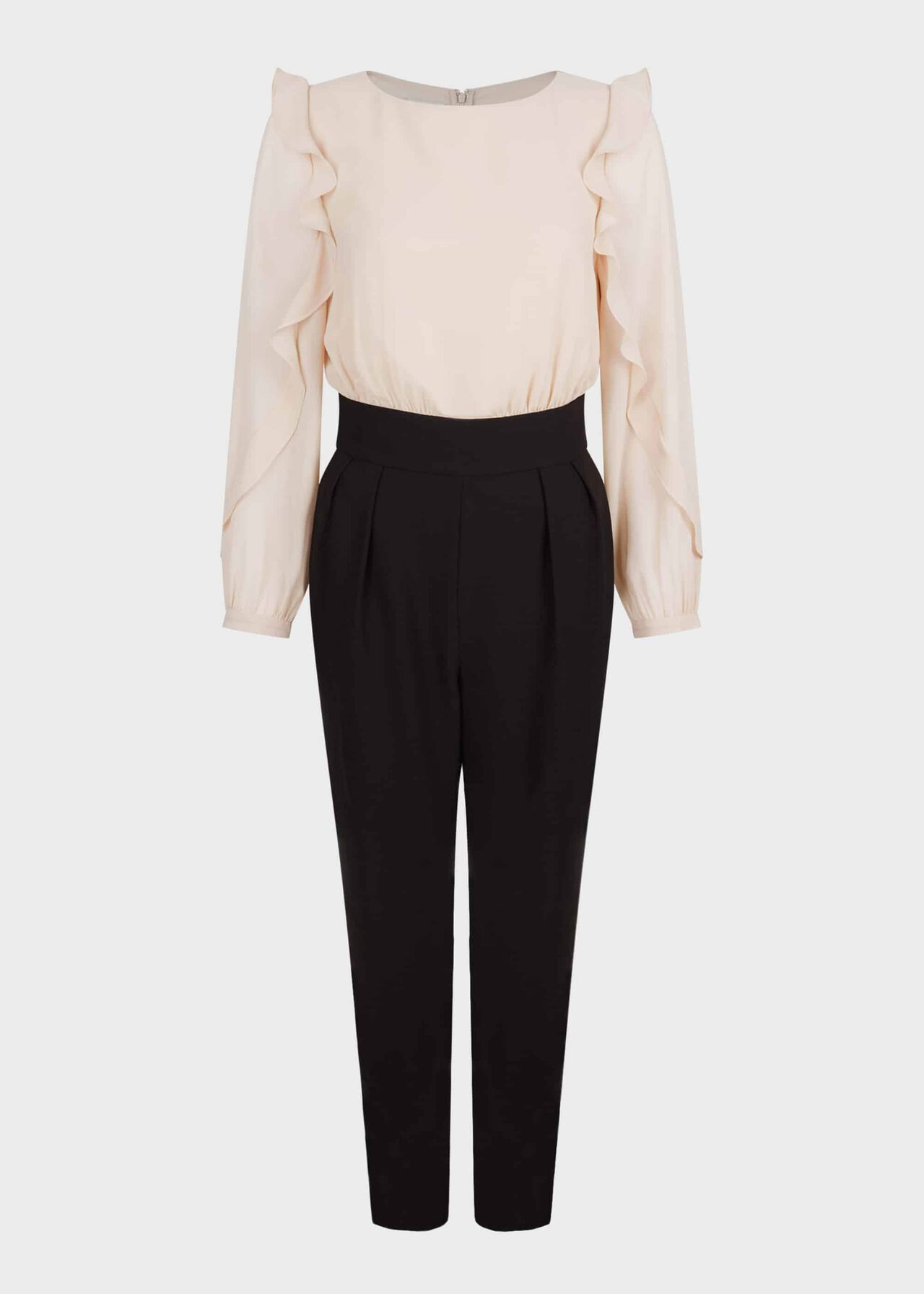 Aubree Colourblock Jumpsuit Blush Black