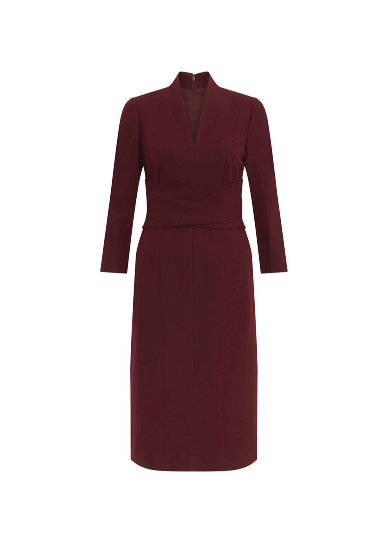 Teresa Wool Dress Burgundy