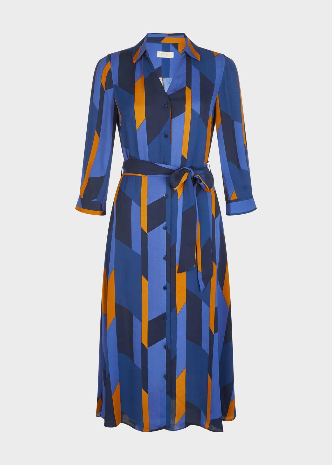 Dalia Dress Navy Multi