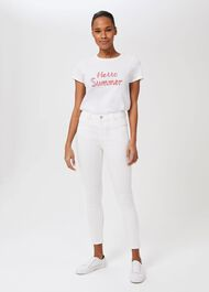 Marianne Denim 7/8 Jeans With Stretch, White, hi-res