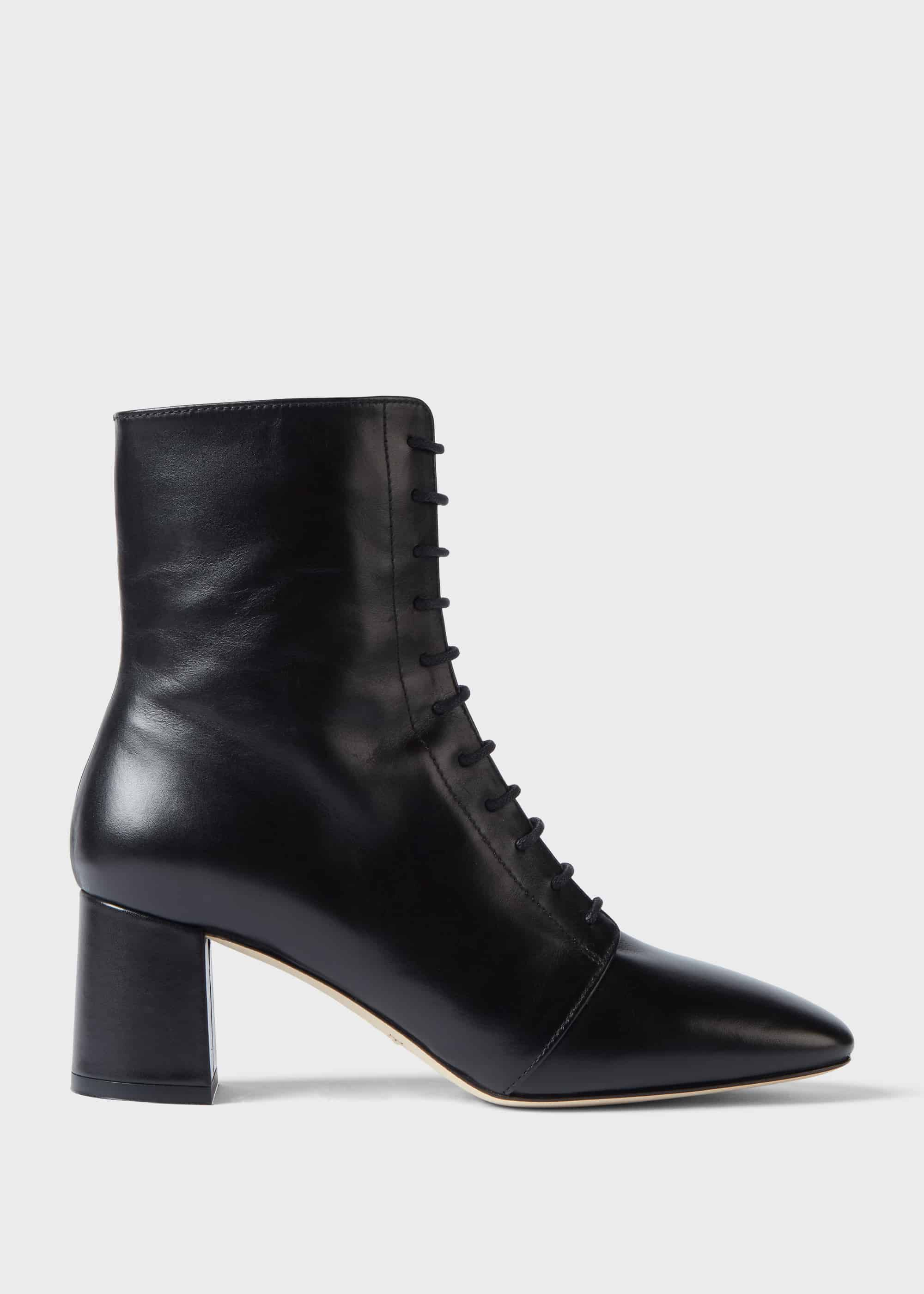 tie up ankle boots with heel