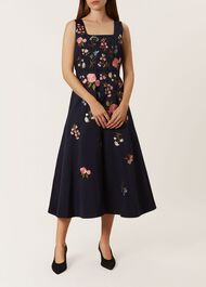 Victoria Posey Dress, Navy, hi-res