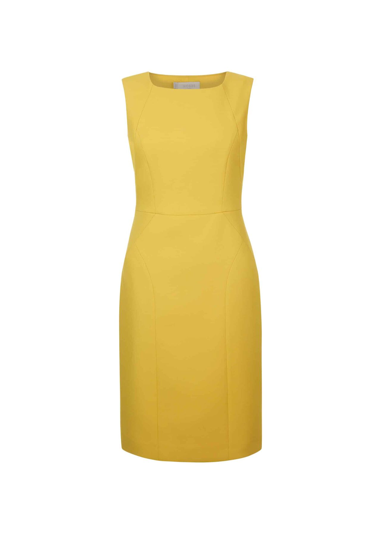 Harper Square Neck Dress Chartreuse