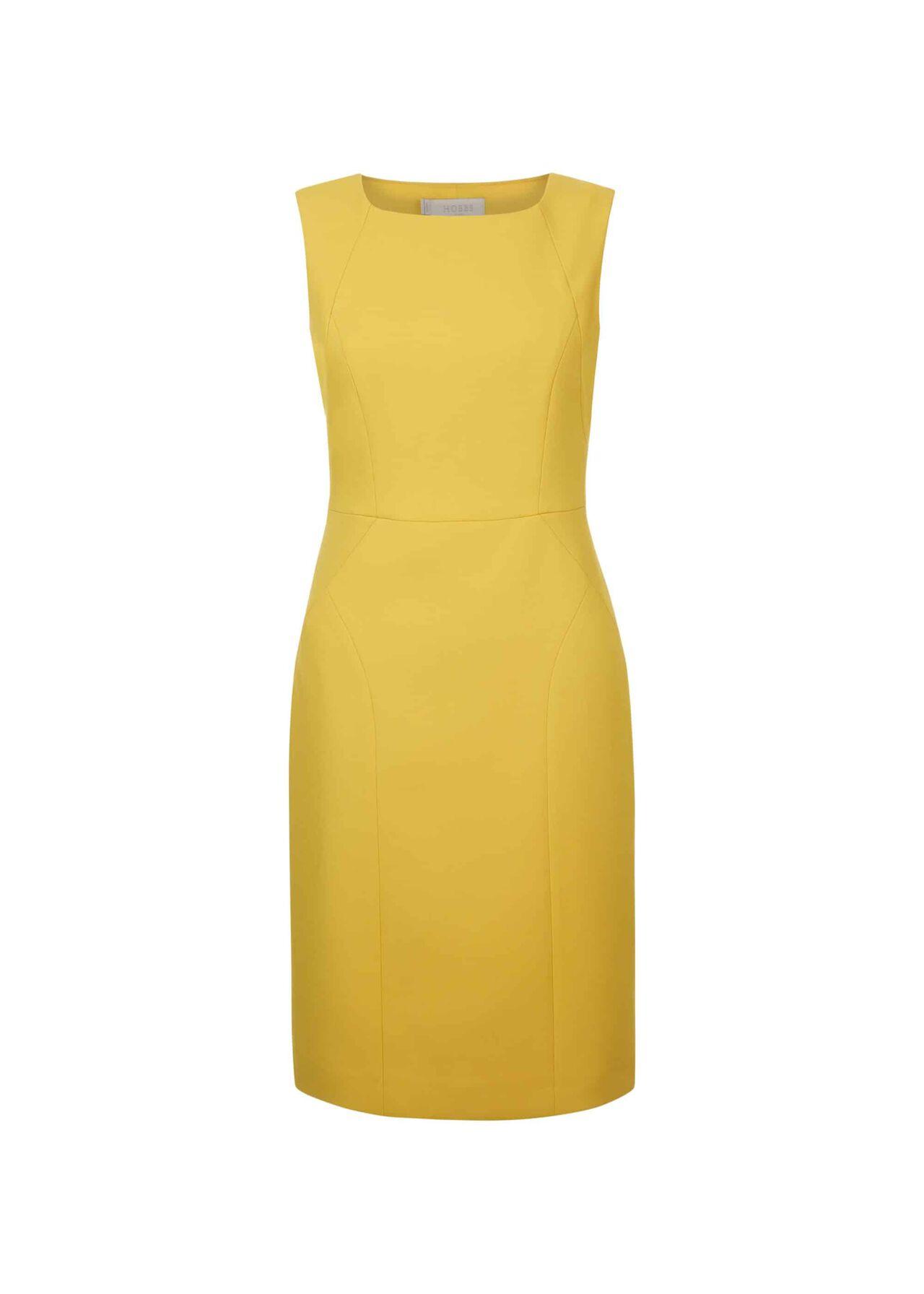 Harper Square Neck Dress Chartreuse