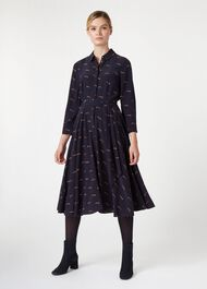 Lainey Dress, Navy Multi, hi-res