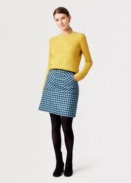 Priya Wool Cashmere Sweater, Saffron, hi-res