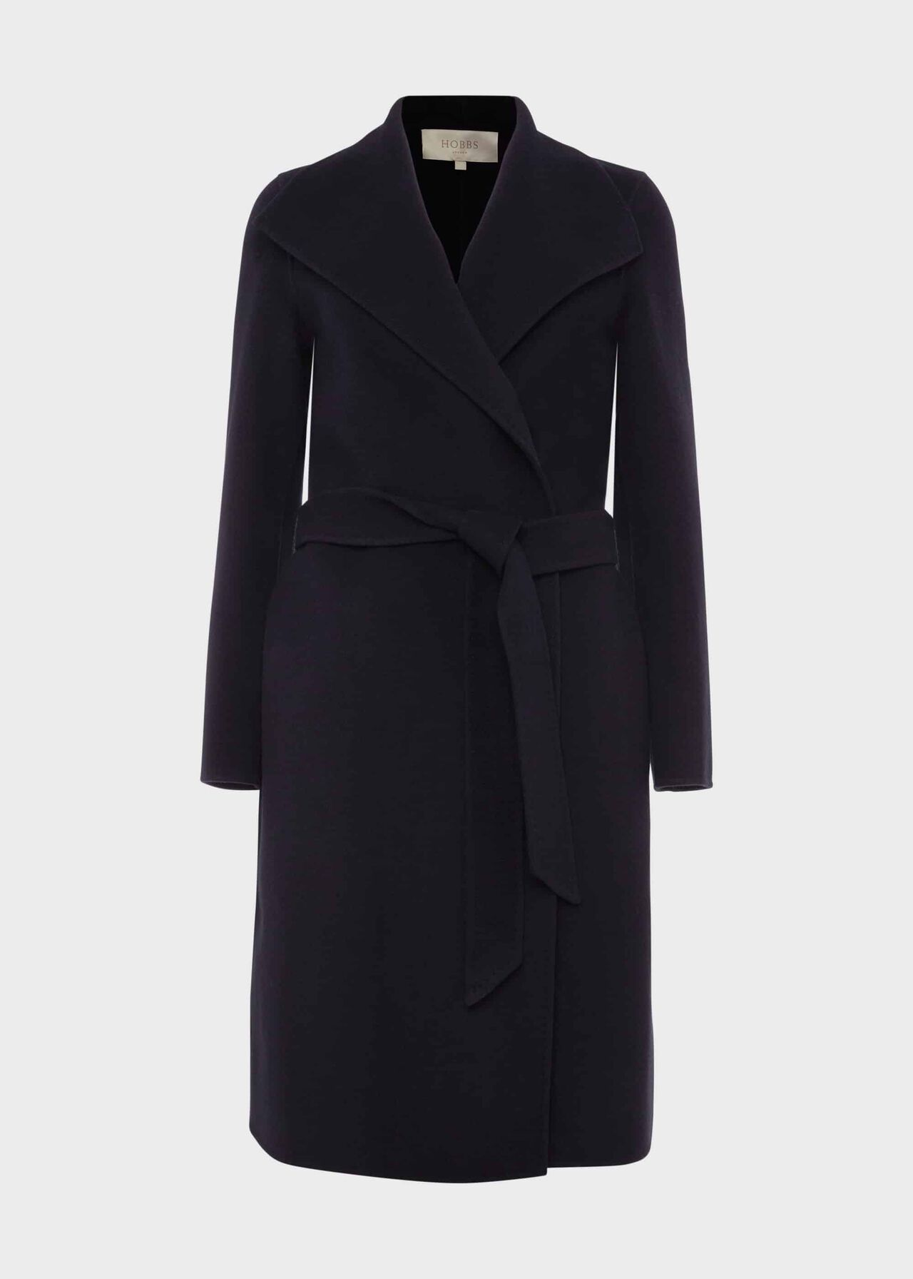 Camille Wool Blend Coat Navy