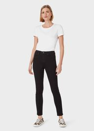 Gia Sculpting Jean, Black, hi-res